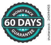 60 days money back guarantee on ... | Shutterstock . vector #243494905