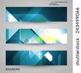 set of banners  technology art... | Shutterstock .eps vector #243499066