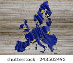 european states flag with... | Shutterstock . vector #243502492