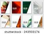set of abstract flyer geometric ... | Shutterstock .eps vector #243503176