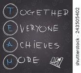 concept of teamwork | Shutterstock .eps vector #243505402
