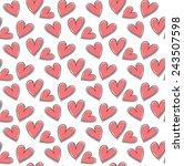 heart seamless pattern  for... | Shutterstock .eps vector #243507598
