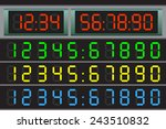 electronic scoreboard with a