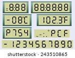 electronic scoreboard clock and ...   Shutterstock . vector #243510865