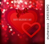 red paper hearts sticker with... | Shutterstock .eps vector #243515092