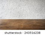 wooden brick floor wall... | Shutterstock . vector #243516238