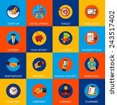 set of modern flat icons....   Shutterstock .eps vector #243517402