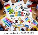 team support care help trust... | Shutterstock . vector #243535522