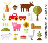 farm animals  plants  fresh...