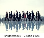 office business collaboration...   Shutterstock . vector #243551428