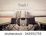 truth | Shutterstock . vector #243551755
