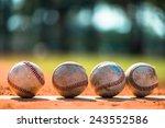 baseballs on pitchers mound | Shutterstock . vector #243552586