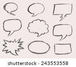 speech bubbles  voice bubble ... | Shutterstock .eps vector #243553558