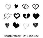 seat of hand drawn vector heart ... | Shutterstock .eps vector #243555322