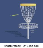 Disc Golf Design  Vector