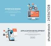 flat designed banners for... | Shutterstock .eps vector #243567328