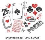 hand drawn poker designs.... | Shutterstock .eps vector #24356935