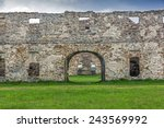 Wide Angle Old Ruins Built Wit...