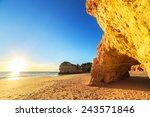 A View Of A Praia Da Rocha In...