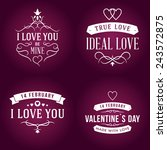 set of valentine's day... | Shutterstock .eps vector #243572875