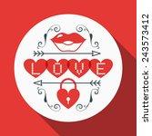vector st. valentine's day...   Shutterstock .eps vector #243573412