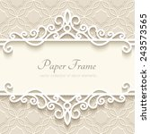 vintage vector background with... | Shutterstock .eps vector #243573565