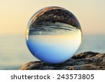 glass ball on the boulder at... | Shutterstock . vector #243573805