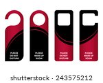door knob   do not distrub | Shutterstock . vector #243575212