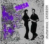 latin dance vector | Shutterstock .eps vector #24358354