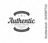 retro vintage insignia ... | Shutterstock .eps vector #243587722