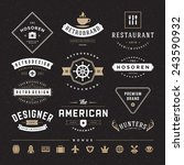 retro vintage insignias or... | Shutterstock .eps vector #243590932