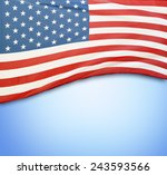 american flag on blue background | Shutterstock . vector #243593566