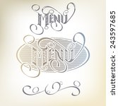 menu headlines  hand lettering. | Shutterstock .eps vector #243597685