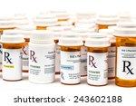 prescription rx medicine... | Shutterstock . vector #243602188