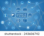 internet of things represented... | Shutterstock .eps vector #243606742