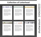 collection of letterheads for... | Shutterstock .eps vector #243610222