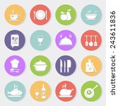 cooking and kitchen flat icons | Shutterstock .eps vector #243611836