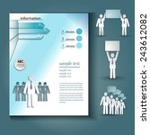brochure template design vector | Shutterstock .eps vector #243612082