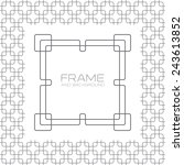 decorative frame  labels or... | Shutterstock .eps vector #243613852