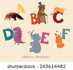 alphabet   animals  part 1. set ... | Shutterstock .eps vector #243614482
