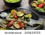 grilled trout with...