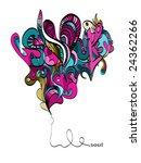 retro psychedelic illustration '... | Shutterstock .eps vector #24362266