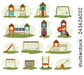 playground design over white...   Shutterstock .eps vector #243626032