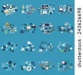 large icons set. vector... | Shutterstock . vector #243626698