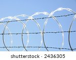Razor Wire - stock photo