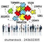 teamwork team connection... | Shutterstock . vector #243632305