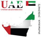 flag of united arab emirates... | Shutterstock . vector #243634672