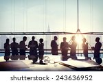 back lit business people... | Shutterstock . vector #243636952