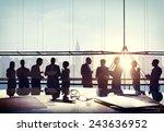 back lit business people... | Shutterstock . vector #243636952