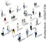 diverse diversity ethnic... | Shutterstock . vector #243637156